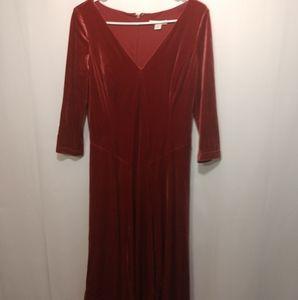 Coldwater Creek velvet dress size 4
